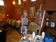 Painting at Ex Nihilo Winery 2012